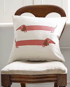 Dachshund Cushion - living room