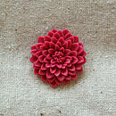 Chrysanthemum Brooch Raspberry