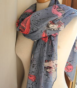 Big Bird Print Scarf
