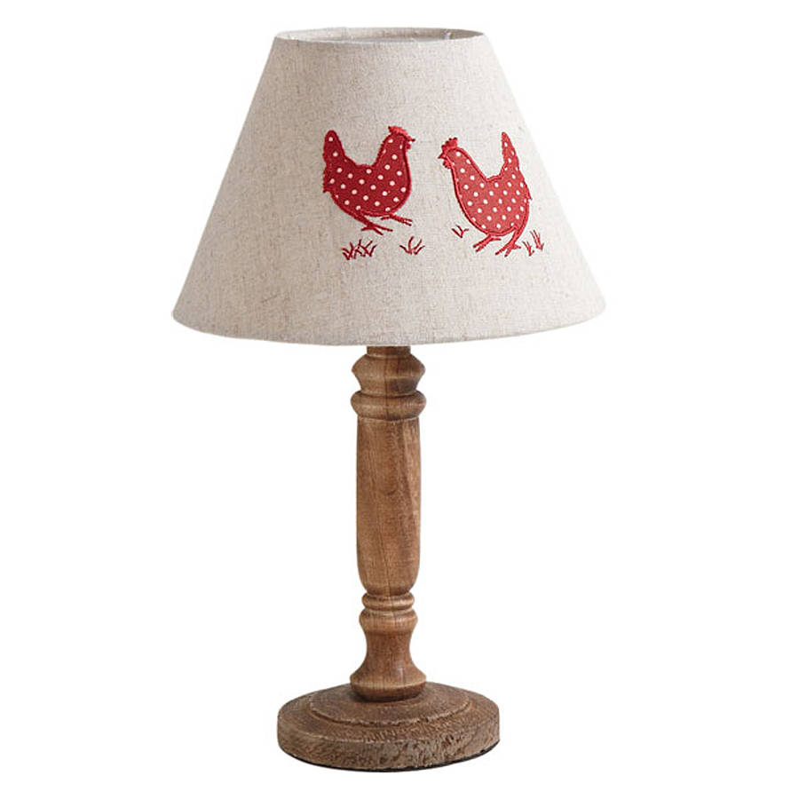 Country Hen Table Lamp With Shade By Dibor