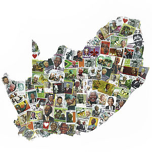 Nelson Mandela's South Africa Map Artwork