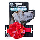 Red Flower Dog Collar