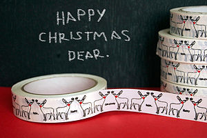 'Happy Christmas Dear' Christmas Sticky Tape - ribbon & wrap