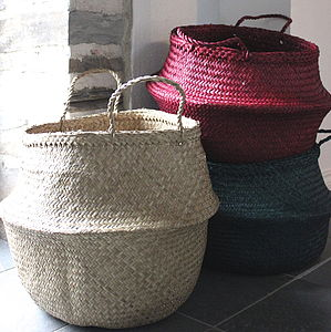 Deep Seagrass Basket - storage & organisers