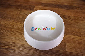 Bow Wow Dog Bowl - food, feeding & treats