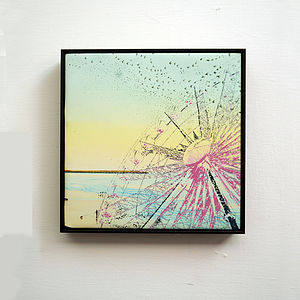Starlings Sunset Dance Framed Print On Canvas - art & pictures