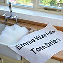 Personalised Tea Towel