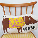 Personalised Children's Handprinted Dog Cushion