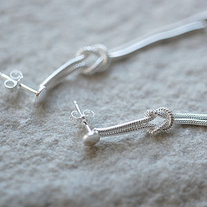 'Tying The Knot' Dangly Earrings