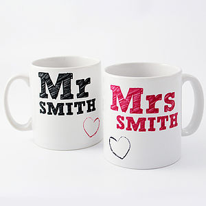 Mr And Mrs Mugs Set - kitchen