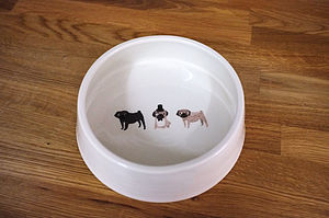 Pug Dog Bowl - dogs