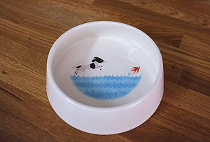 Spaniel Dog Bowl - food, feeding & treats