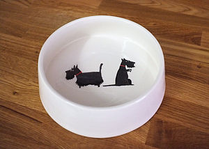 Scottie Dog Bowl - food, feeding & treats