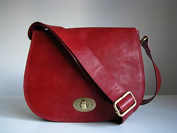 Leather Handbag Messenger Style