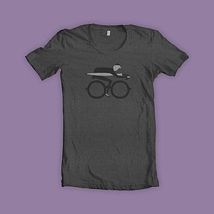 100% Recycled Commuter Bike T Shirt