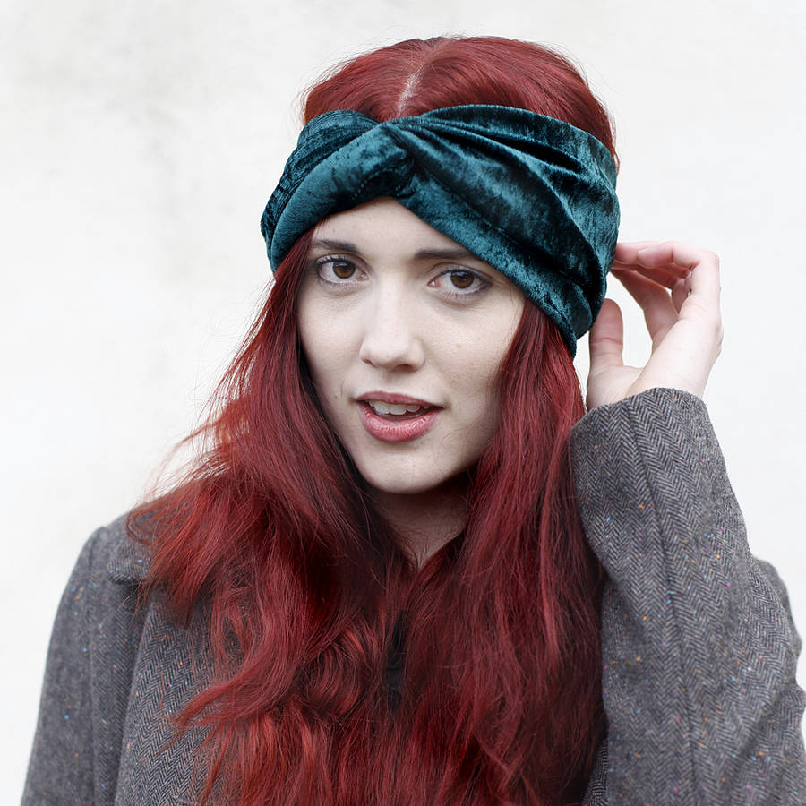 Velvet Turban Headband By Crown And Glory