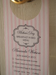 Personalised Mother's Day Door Hanger - mother's day gifts