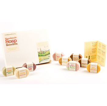 Set Of Nine Mini Soaps Selection Gift Box