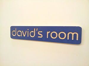 Personalised Name Plaque / Room Sign - decorative letters