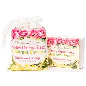 Geranium And Fennel Natural Soap And Gift Bag