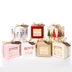 Set Of Three Soaps Christmas Gift Box - gift sets