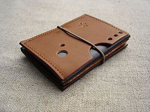 Leather Zigzag Wallet In Tan Or Brown