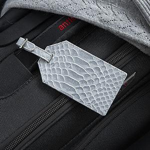 Metallic Leather Luggage Tag - travel & luggage