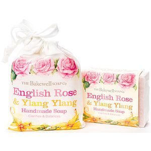 Rose And Ylang Ylang Natural Soap In Gift Bag