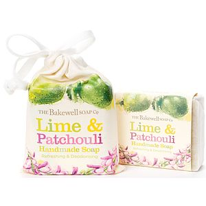 Lime And Patchouli Natural Soap And Gift Bag