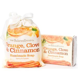 Orange Clove And Cinnamon Soap And Gift Bag