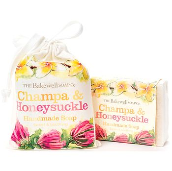 Champa And Honeysuckle Soap And Gift Bag