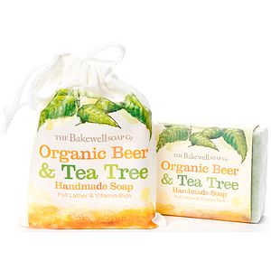 Organic Beer And Tea Tree Soap And Gift Bag