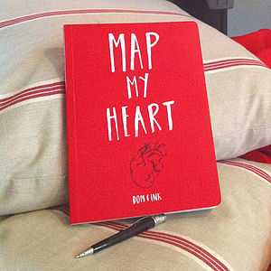 'Map My Heart' Book - for him