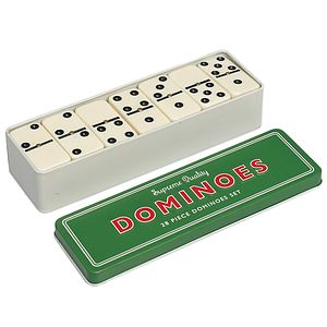 Traditional Dominoes Set In Tin - traditional toys & games