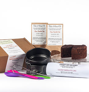Classic Chocolate Cake Baking Kit - cakes & treats