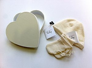Natural Baby Mitts And Hat Set