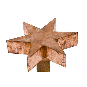 Decorative Copper Star - sculptures & ornaments