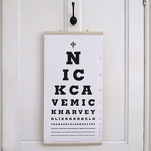 Nick Cave Eye Test Chart Canvas Print