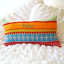 Personalised Knitted Child's 'Lulu' Cushion