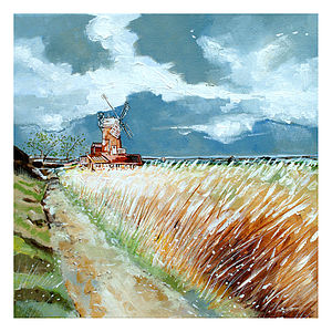 Cley Windmill - paintings & canvases