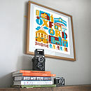 Oxford City Typographic Print