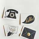 Hello Notelet Set