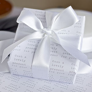 'Lovely Present' Gift Wrap