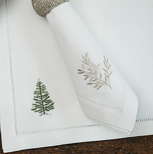 Silver Christmas Napkin - extraordinary table decorations