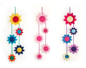 Sunflower Mobile - children's room accessories