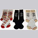 Set of Three Bamboo Sock - for the Bike Lovers