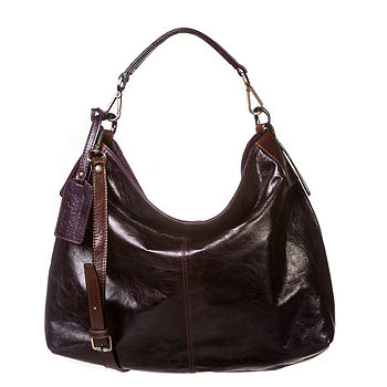 Mariella Leather Shoulder Handbag