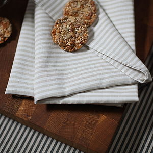 Napkin Natural Striped Linen Jazz - bed, bath & table linen