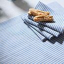 Blue Natural Striped Linen Jazz Placemat