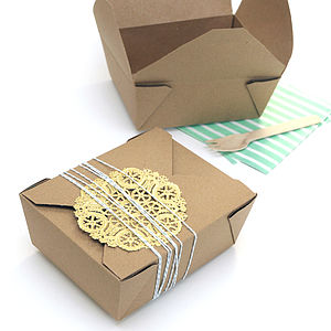 Kraft Brown Food Boxes - favour bags, bottles & boxes